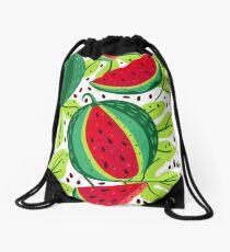 Juicy and sweet watermelon Drawstring Bag