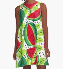 Juicy and sweet watermelon A-Line Dress