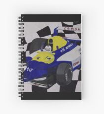 F1 Nigel Mansell Red 5 Art Spiral Notebook