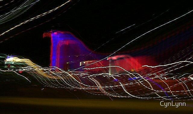 Las Vegas at Night by CynLynn