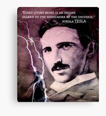 Nikola Tesla - quote Canvas Print