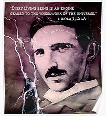 Nikola Tesla - quote Poster