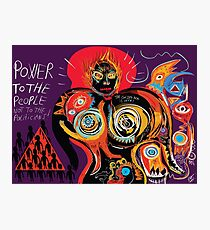 Power to the people Street art Graffiti Photographic Print