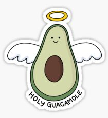 'Holy Guacamole' Avocado Illustration Sticker
