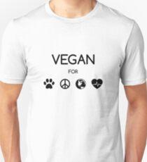 Vegan for all! (schwarz) T-Shirt