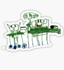 Monkey Dinner t-shirt Sticker