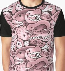 Dinosaur Pattern in Dusty Rose Graphic T-Shirt