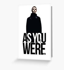 Liam Gallagher // As You Were Polarized image Greeting Card