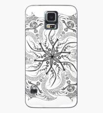 "Manta Ray Spiral Mandala Tribal and Native Style Print - Large Scale Print - 50""x50"" Case/Skin for Samsung Galaxy"