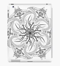 "Manta Ray Spiral Mandala Tribal and Native Style Print - Large Scale Print - 50""x50"" iPad Case/Skin"