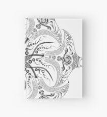 "Manta Ray Spiral Mandala Tribal and Native Style Print - Large Scale Print - 50""x50"" Hardcover Journal"