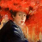 Girl with a Red Galaxy Hat by Emmi Mustonen