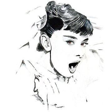 Audrey Hepburn (in Roman Holiday) by antonioluppino