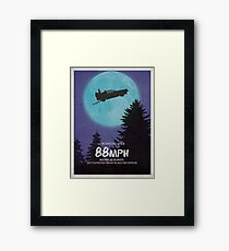 88mph (ET Movie Poster Parody) Framed Print