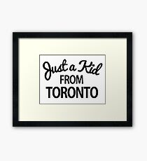 Just a kid from Toronto Framed Print