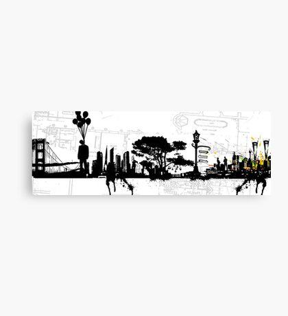 city suicide Canvas Print