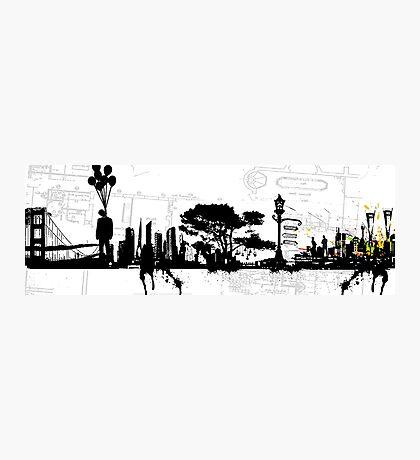 city suicide Photographic Print