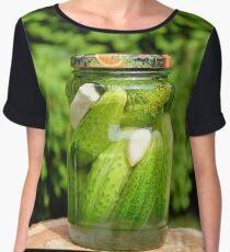 Pickled organic cucumber Women's Chiffon Top