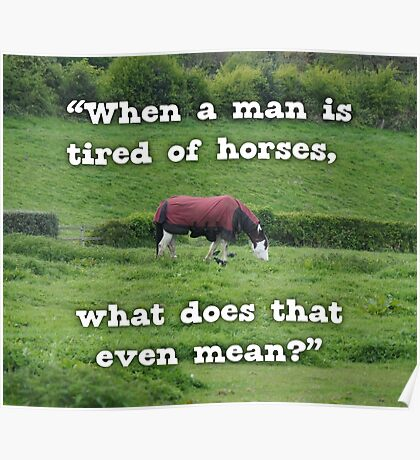 NDVH When a man is tired of horses Poster