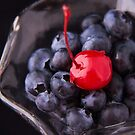 Blueberries With Cherry On Top by daphsam