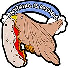 Pizza Crust Bird by geothebio
