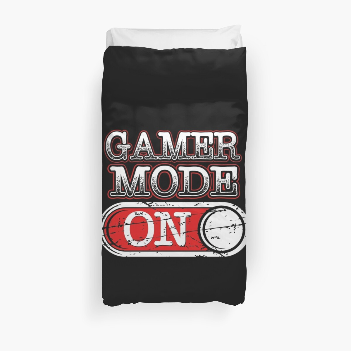 gamer mode gift idea for gamers video game lovers players gaming duvet covers by. Black Bedroom Furniture Sets. Home Design Ideas