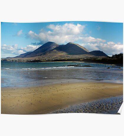 Croagh Patrick beach view Poster