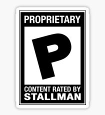Proprietary Content Sticker