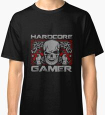 Hardcore Gamer Gift Idea For Gamers Video Game Lovers Players Gaming Classic T-Shirt