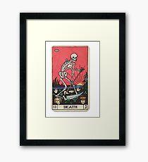 Tarot card death Framed Print