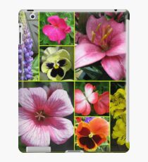 Lupin, Lilies, Geraniums and Pansies Collage iPad Case/Skin