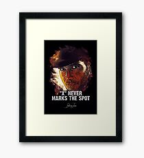 X Never Marks The Spot - INDIANA JONES Framed Print