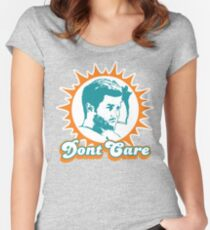 Dont Care 2 Women's Fitted Scoop T-Shirt
