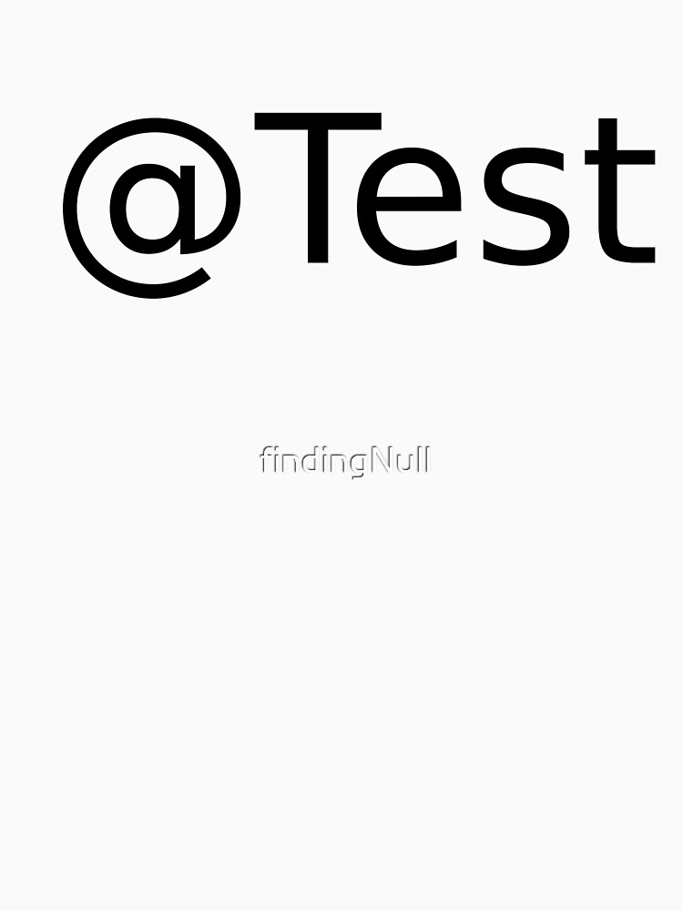 @Test by findingNull