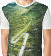 winding road at the faroe islands Graphic T-Shirt