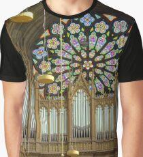 Pipe Organ Votivkirche, Vienna Austria Graphic T-Shirt
