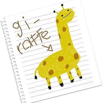 Giraffe doodle by Rababau