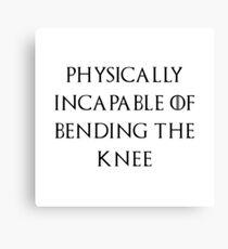 Jon - Bend the knee Canvas Print