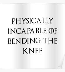 Jon - Bend the knee Poster