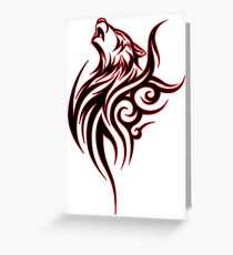 Tribal Wolf Greeting Card