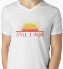 Still I Rise Sunrise V-Neck T-Shirt