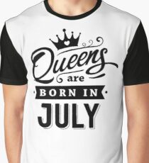 Camiseta gráfica Queens are born in JULY