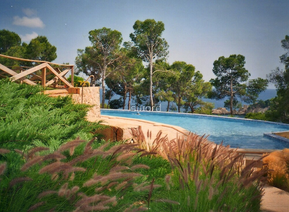 Mallorcan swimming pool by sword
