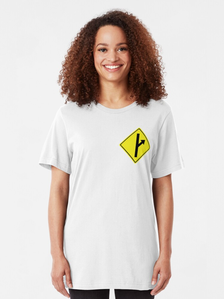 MGTOW logo as crest in top corner | Slim Fit T-Shirt