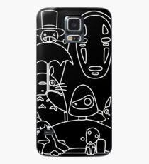 Ghibli in black Case/Skin for Samsung Galaxy