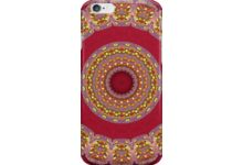 Red Gold Yellow rosettes Mandala auf Redbubble von pASob-dESIGN