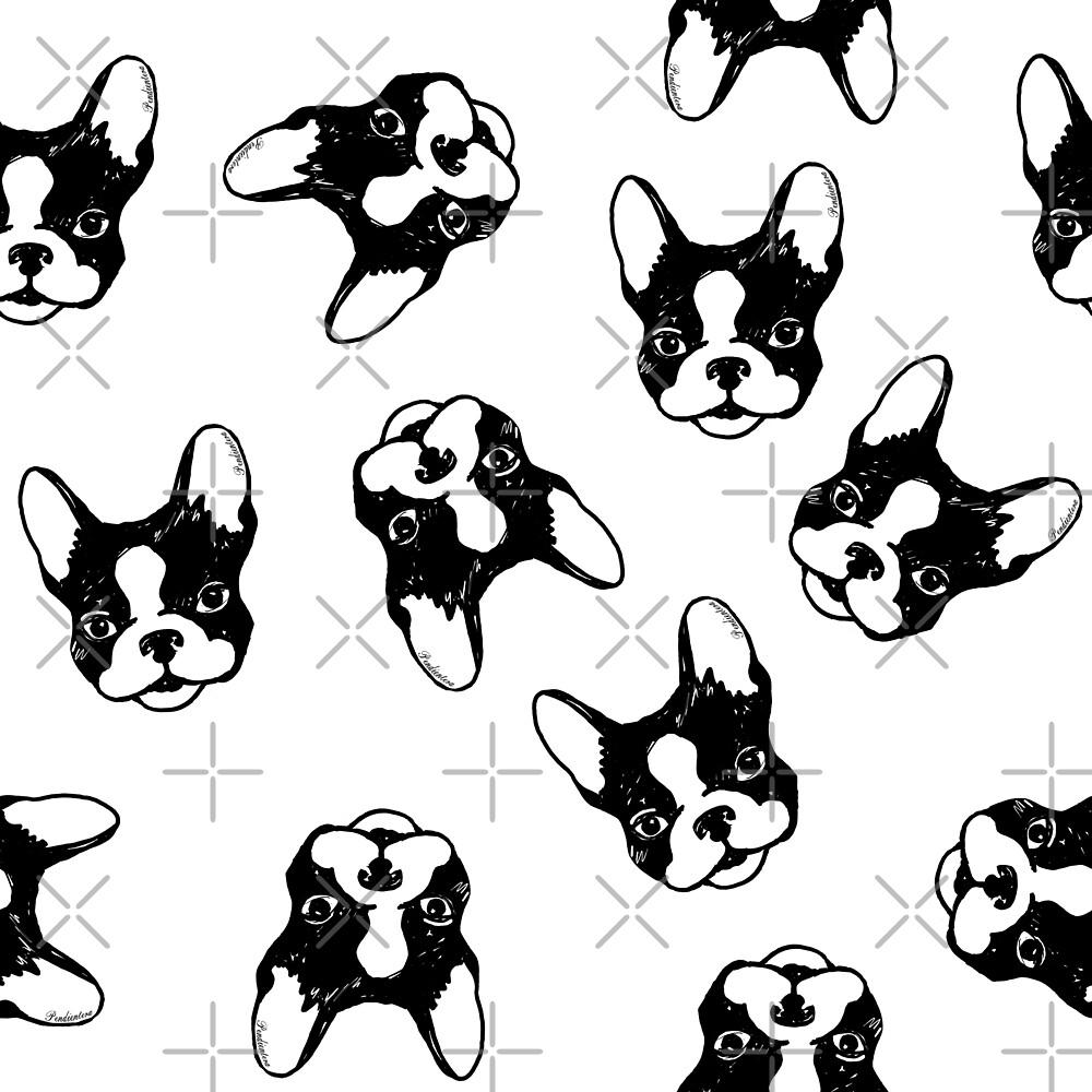French bulldog pattern by Pendientera