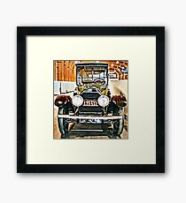 1918 Cadillac Limousine With NY Name On License Framed Print