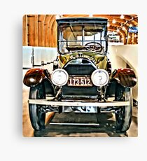 1918 Cadillac Limousine With NY Name On License Canvas Print