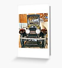 1918 Cadillac Limousine With NY Name On License Greeting Card